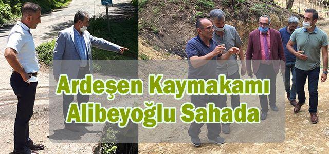 Kaymakam Alibeyoğlu KÖYDES Kapsamında İncelemeler Yaptı