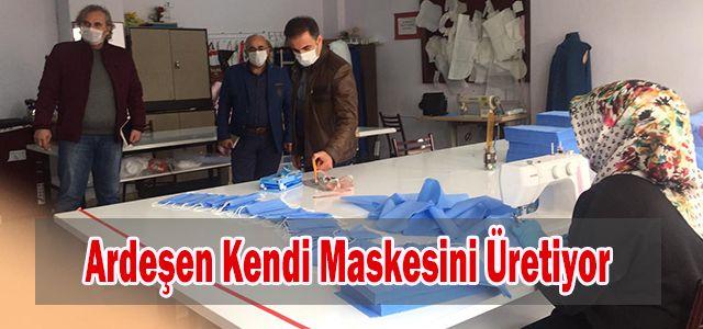 Kaymakam Alibeyoğlu'ndan Maske Üretimi için teşekkür ziyareti