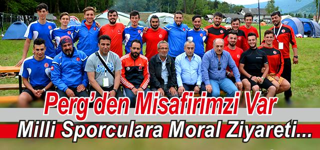 Milli Sporculara Moral Ziyareti