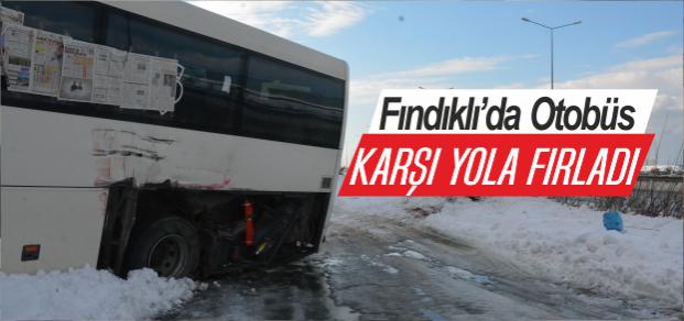 Otobüs Karşı Yolda Durabildi