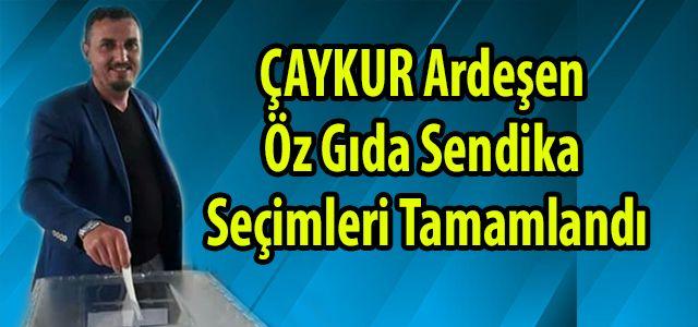 Öz Gıda Sendika Seçimlerinde ÇAYKUR Ardeşen Çay Fabrikası Abdurrahim Çukur Dedi