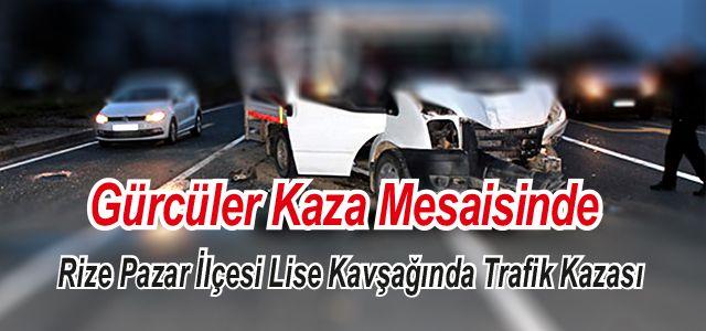 Pazar'da trafik kazası: 4 yaral