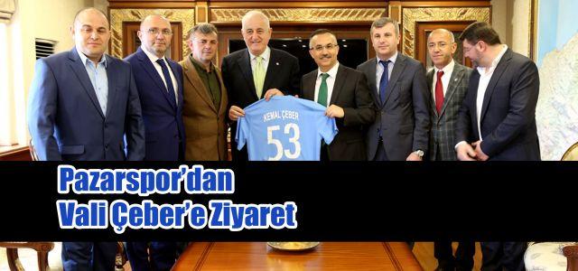 Pazarspor Yönetim Kurulu'dan Vali Kemal Çeber'e Ziyaret
