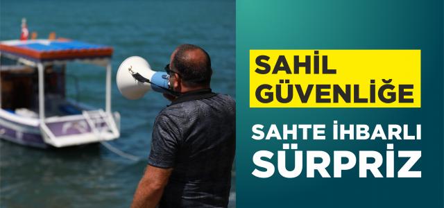 Plaj işletmecileri, Sahil Güvenliğin 39. yaşını sahte ihbarla çağırdıkları kurum personeline sürpriz yaparak kutladı