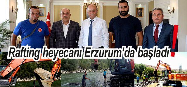 Rafting AS Başkanı Yardımcı Erzurum Valisini Ziyaret Etti