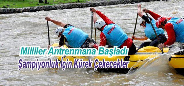 Rafting Türk Milli Takımı Gürcistan'da Kampta