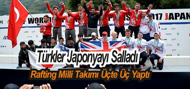 Rafting Türk Milli Takımı Japonya'da 21 Altın Topladı