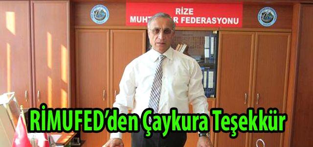 RİMUFED'DEN ÇAYKUR'A TEŞEKKÜR