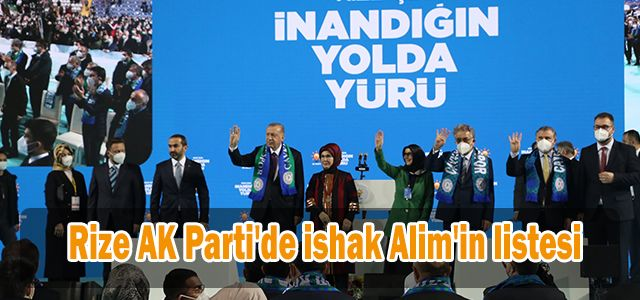 Rize AK Parti'de ishak Alim'in listesi