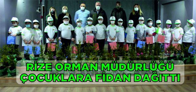Rize Orman Müdürlüğü Çocuklara Fidan Dağıttı