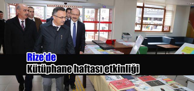 Rize'de Kütüphaneler Haftası Dolayısıyla Bir Program Düzenlendi