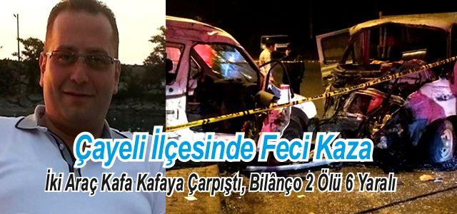 Rize'de Trafik Kazası 2 Ölü, 6 Yaralı