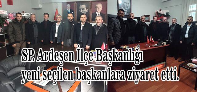 Saadet Partisi Ardeşen İlçe Başkanlığı yeni seçilen başkanlara ziyaret etti.