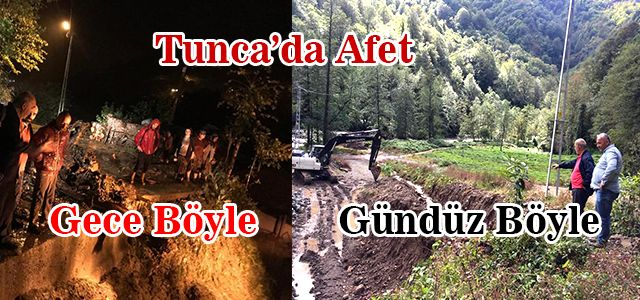 Sağnak Yağmur Yağış Tunca'yı Vurdu