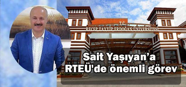 Sait Hoca'ya Rize RTEÜ'de önemli görev