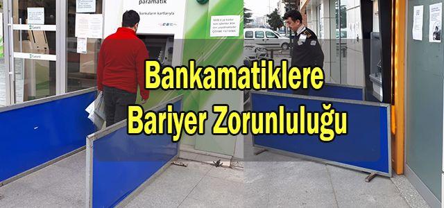 Sosyal Mesafenin Korunması Açısından Bankamatiklere Bariyer Konuldu.