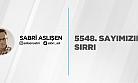 5548. SAYIMIZIN SIRRI