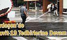 Ardeşen Belediyesi Cadde ve Sokaklarda Dezenfekte Başlattı