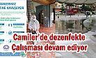 Ardeşen'de Camiler İlaçlanarak Dezenfekte Ediliyor