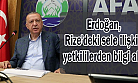 Cumhurbaşkanı Erdoğan, Rize'deki sele ilişkin yetkililerden bilgi aldı