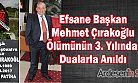 Efsane Başkan Mehmet Çırakoğlu Ölümünün Üçüncü Yılında Dualarla Anıldı