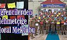 Hamidiye Çözüm Koleji Öğrencilerinden Asker Mektubu