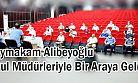 Kaymakam Alibeyoğlu Okul Müdürleriyle Bir Araya Geldi