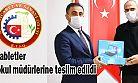 """Rize """"TSO"""" Tarafından bağışlanan tabletler okul müdürlerine teslim edildi"""