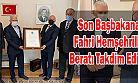 Son Başbakana Fahri Ardeşenli Hemşehrilik Beratı