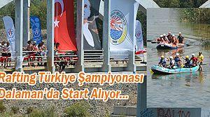 Türkiye Rafting Şampiyonası Dalaman'da Start Alıyor