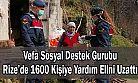 Vefa Sosyal Destek Gurubu, Rize'de 1600 Kişiye Yardım Elini Uzattı
