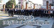 19 Eylül Gaziler Günü dolayısıyla Ardeşen'de