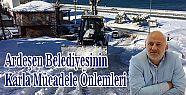 Ardeşen Belediyesinin Karla Mücadele Önlemleri