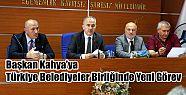 Avni Kahya'ya Türkiye Belediyeler Birliğinde