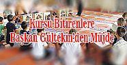Başkan Gültekin'den Kur'an Kursu Öğrencilerine