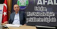 Cumhurbaşkanı Erdoğan, Rize'deki sele ilişkin...