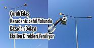 Karadeniz Sahil Yolunda Kazalardan Dolayı