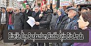 Rize'de İlçe Başkanları Kudüs İçin