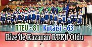 RTEÜ Erkek Basket Takımımız