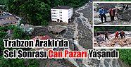 Trabzon'un Araklı ilçesinde yoğun sağanak