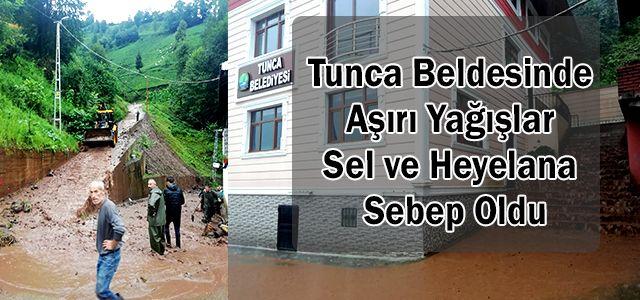 Tunca Beldesinde Aşırı Yağışlar Sel ve Heyelana Sebep Oldu