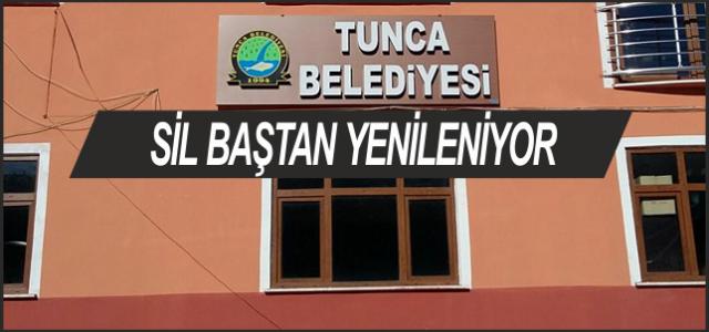 Tunca Belediye Binası Yenileniyor