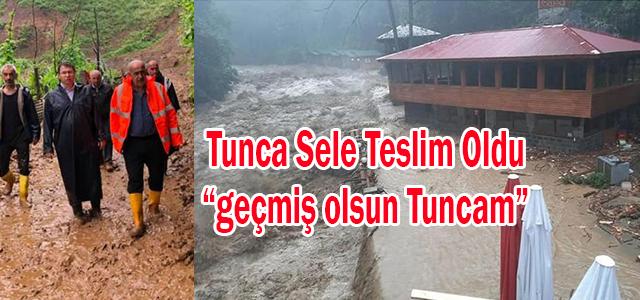 Tunca Belediyesine Ait Dere Ağzı Tesisleri Büyük Hasar Gördü.