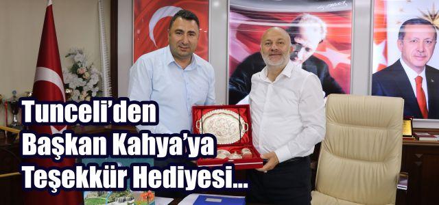 Tunceli Valisi Tuncay Sonel'den Başkan Kahya'ya teşekkür