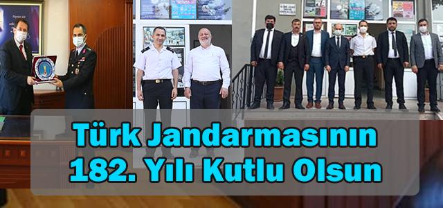 Türk Jandarma Teşkilatımızın182. Kuruluş yıl dönümü kutlu olsun