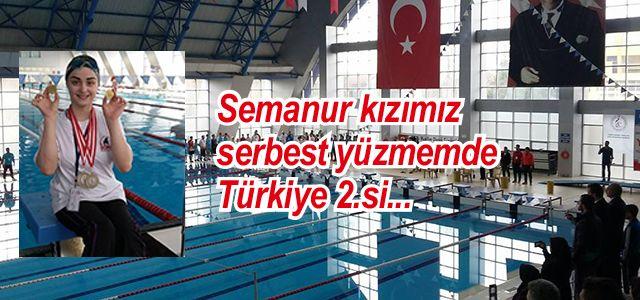 Türkiye Engelliler Yüzme Şampiyonasında Ardeşen'li Genç Kızımız Türkiye 2.si Oldu