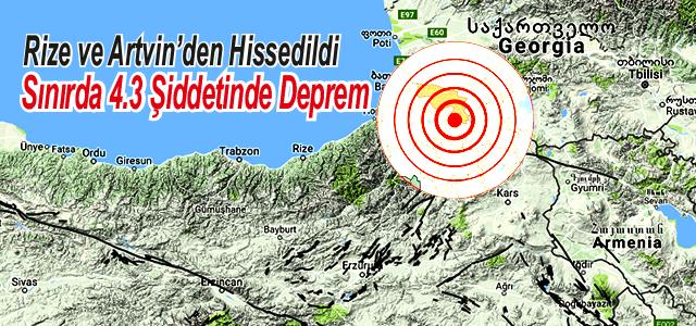 Türkiye-Gürcistan sınırında 4.3 şiddetinde deprem