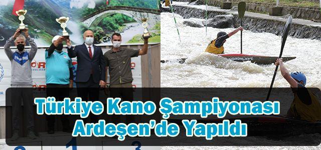 Türkiye Kano Şampiyonası Ardeşen'de Yapıldı