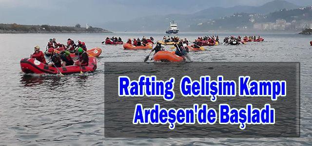 Türkiye Rafting Federasyonu Gelişim Kampı Ardeşen'de Başladı
