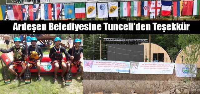 Türkiye'de Düzenlenen Dünya Rafting Şampiyonasına Ardeşen Belediyesinden Tam Destek
